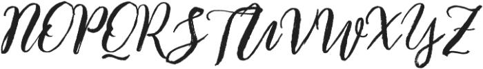 Enchanted Brush otf (400) Font UPPERCASE