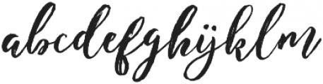 Enchanted Brush otf (400) Font LOWERCASE