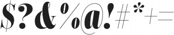 Encorpada Classic Compressed ExtraBold Italic otf (700) Font OTHER CHARS