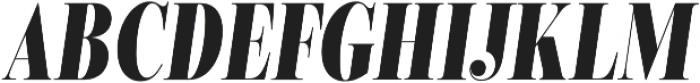 Encorpada Classic Compressed ExtraBold Italic otf (700) Font UPPERCASE