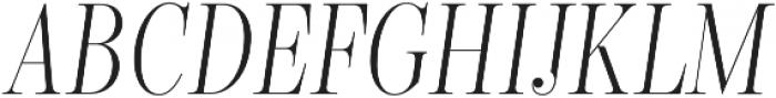 Encorpada Classic Compressed Light Italic otf (300) Font UPPERCASE