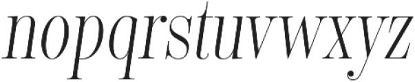 Encorpada Classic Compressed Light Italic otf (300) Font LOWERCASE