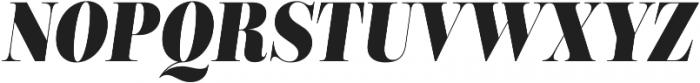 Encorpada Classic Condensed Extra Bold Italic otf (700) Font UPPERCASE