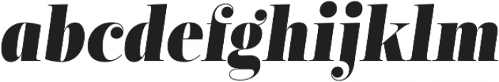 Encorpada Classic Condensed Extra Bold Italic otf (700) Font LOWERCASE