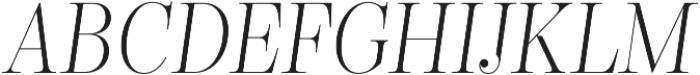 Encorpada Classic Condensed Light Italic otf (300) Font UPPERCASE