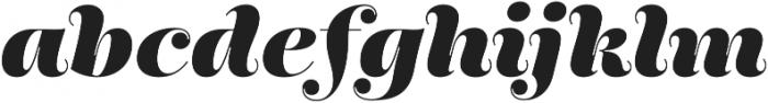Encorpada Pro ExtraBold Italic otf (700) Font LOWERCASE