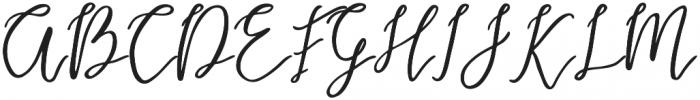 Endestry Regular otf (400) Font UPPERCASE