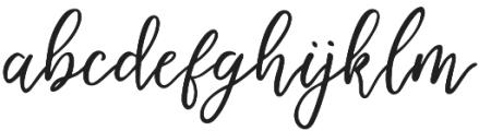 Endestry Regular otf (400) Font LOWERCASE