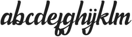 Endjoyable otf (400) Font LOWERCASE