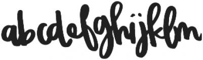 EndlessSummer Script otf (400) Font LOWERCASE