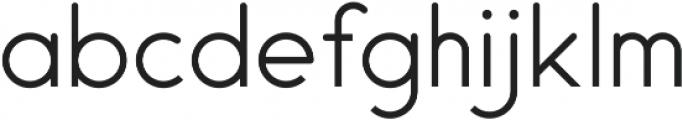Endura Light ttf (300) Font LOWERCASE