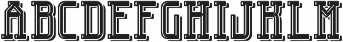 EngineerFont LightShadow otf (300) Font UPPERCASE