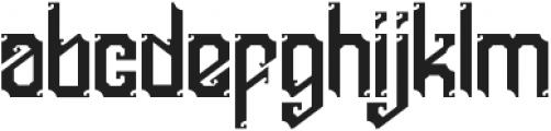 England otf (400) Font LOWERCASE