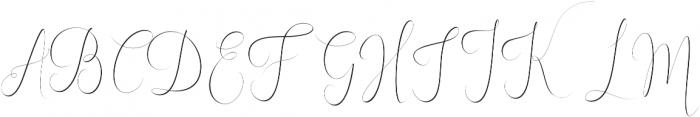 England thin Regular otf (100) Font UPPERCASE