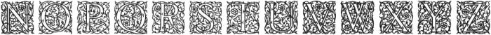 English Arabesque Revival 1900 ttf (900) Font UPPERCASE