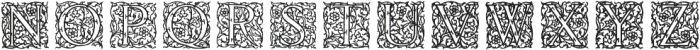 English Arabesque Revival 1900 ttf (900) Font LOWERCASE