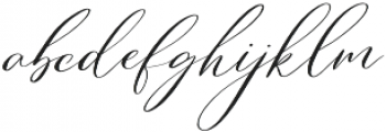 English Channel otf (400) Font LOWERCASE