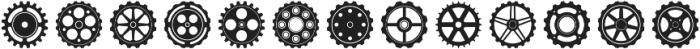 Engranajes Regular otf (400) Font LOWERCASE