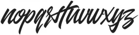 Entreaty Regular otf (400) Font LOWERCASE