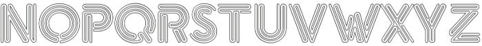eNeon Outline otf (400) Font UPPERCASE