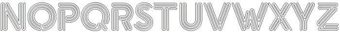eNeon Outline otf (400) Font LOWERCASE