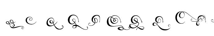 AXR Luvdove Swash Font UPPERCASE