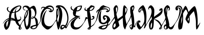 AXR Luvdove Font UPPERCASE