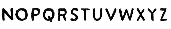 Acrylic Hand Sans Regular Font UPPERCASE