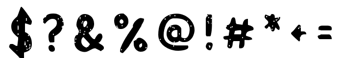 Acrylic Hand Sans SVG Regular Font OTHER CHARS
