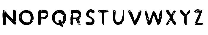 Acrylic Hand Sans SVG Regular Font UPPERCASE