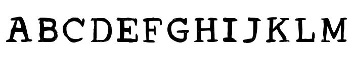 Acrylic Hand Serif Regular Font UPPERCASE