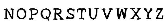 Acrylic Hand Serif Regular Font LOWERCASE