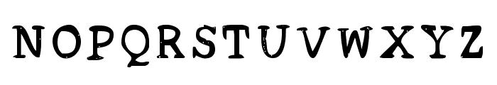 Acrylic Hand Serif SVG Regular Font UPPERCASE