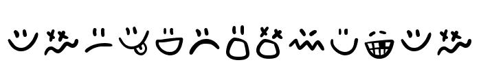 Adventura Letter Emo Font LOWERCASE