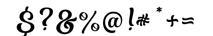 Almost Lover Script Font OTHER CHARS