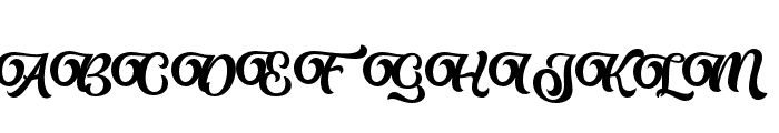 Almost Lover Script Font UPPERCASE