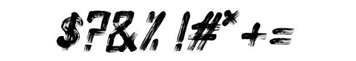 Alt Silent Scream Italic Font OTHER CHARS
