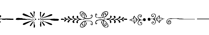 AmorieExtras-Borders Font LOWERCASE