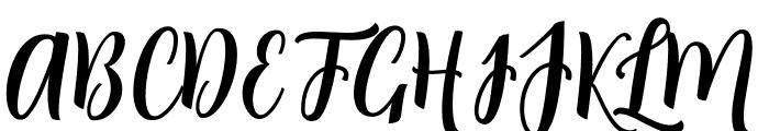 Angela Script Font UPPERCASE
