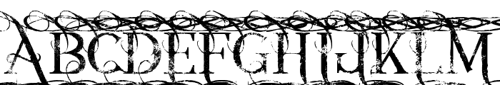 Annabel grunge Font UPPERCASE