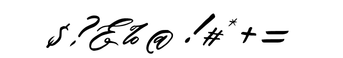 AnthonyScript Font OTHER CHARS