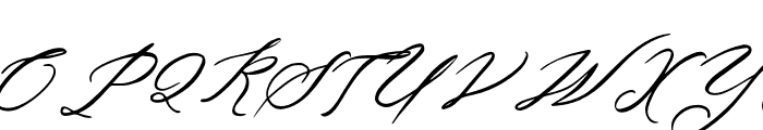AnthonyScript Font UPPERCASE