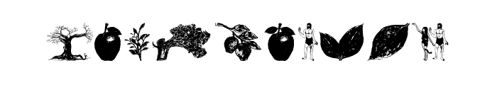 Apple Tree Decorative Font OTHER CHARS