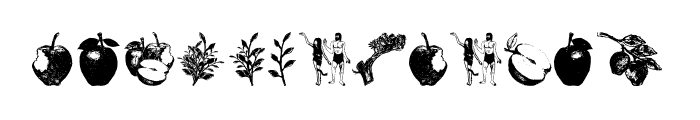 Apple Tree Decorative Font LOWERCASE