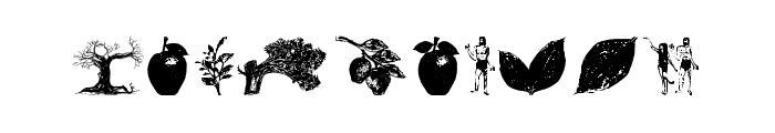 AppleTree-Decorative Font OTHER CHARS