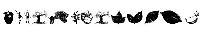 AppleTree-Decorative Font LOWERCASE