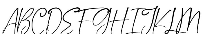 Asmiyati Italic Font UPPERCASE