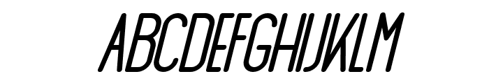 AthleticaSans-BlackItalic Font UPPERCASE