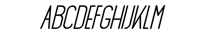 AthleticaSans-BoldItalic Font UPPERCASE
