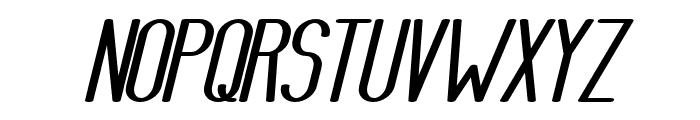 AthleticaSans-HeavyExpIta Font UPPERCASE